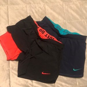 Nike shorts with liner